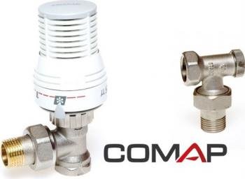 Set robineti termostatabili calorifer tur si retur 1/2 Comap