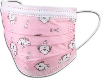 Set 50 bucati Masti faciale Roz de unica folosinta nesterile pentru copii Masti chirurgicale si reutilizabile