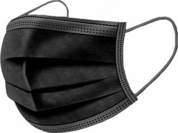 Set 50 Masti medicale de protectie Negre de unica folosinta tip I 3 straturi