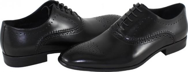 Pantofi eleganti barbati piele naturala - Saccio negru - Marimea 42