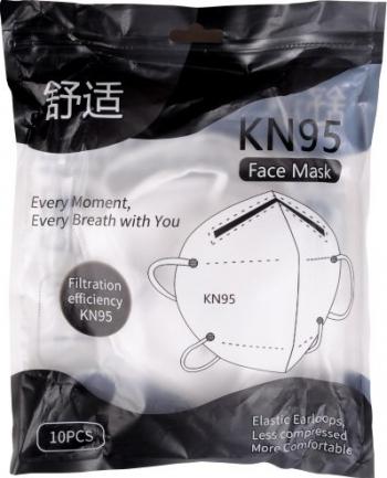 Masca neagra cu 6 straturi FFP2 Set de 10 buc Masti chirurgicale si reutilizabile