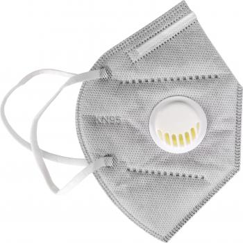 Masca cu supapa 7 straturi ambalata individual culoare negru Masti chirurgicale si reutilizabile