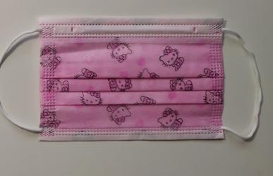 Set 10 buc. masca de protectie unica folosinta pentru copii roz Hello Kitty Masti chirurgicale si reutilizabile