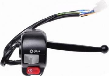 Maneta frana + bloc comanda lumini scuter LJ50QT dreapta Accesorii Moto
