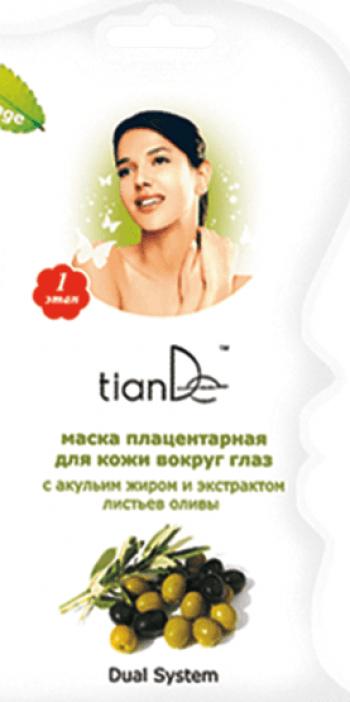 Masca pentru pielea din jurul ochilor cu extract de grasime de rechin si frunze de maslin TianDe 1 buc Masti, exfoliant, tonice