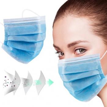Cutie de 50 Masti de unica folosinta cu 3 pliuri si 3 straturi Albastru Masti chirurgicale si reutilizabile