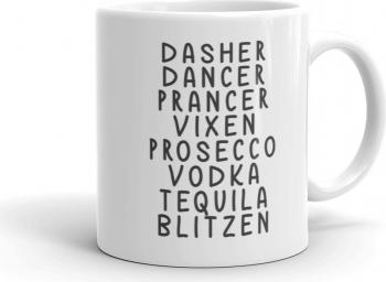 Cana personalizata Dasher Dancer Prancer Vixen Prosecco Vodka Tequila Blitzen