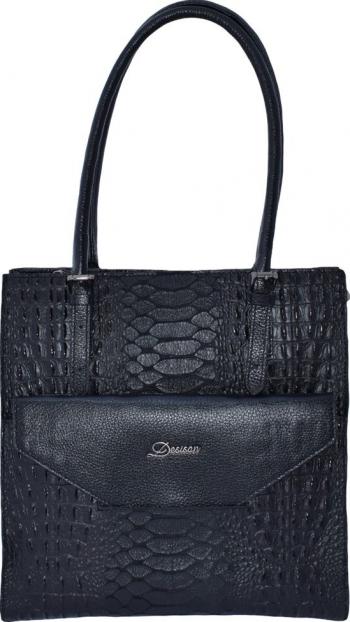 Geanta dama din piele naturala marca Desisan 7138-01-P-26 negru Negru