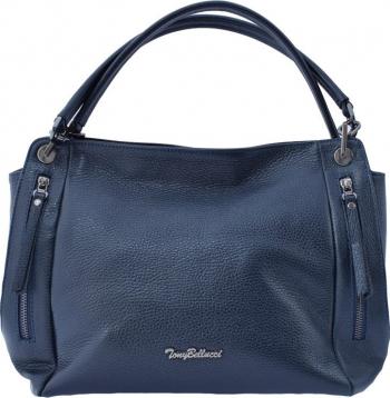 Geanta dama din piele naturala marca Tony Bellucci 0092-42-64 bleumarin Bleumarin Genti de dama