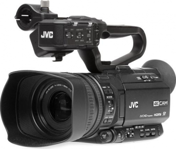 Kit Camera Video JVC 4K GY-HM180E cu iesire SDI + Microfon JVC XLR Camere video digitale