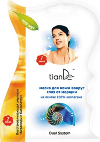 Masca antirid pentru pielea din jurul ochilor cu colagen TianDe 1 buc Masti, exfoliant, tonice