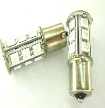 SET P21W 18 SMD galbene Proiectoare, Lampi si Leduri