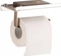 Suport hartie igienica cu raft depozitare telefon sau alte accesorii dispenser hartie igienica cu raft FMD006