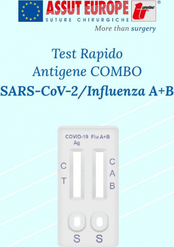 Test Antigen COMBINAT COVID-19/VIRUS GRIPAL A+B Assut EUROPE ITALIA Certificat CE Teste rapide covid anticorpi antigen