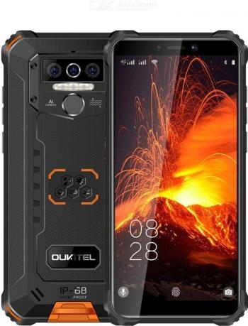 Telefon mobil Oukitel WP5 Pro IPS 5.5inch 4GB RAM 32GB ROM Android 9.0 Dual SIM QuadCore 8000mAh Galben Telefoane Mobile