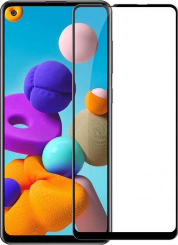 Folie Protectie Ecran Hybrid Upzz Ceramic Full Glue Pentru Samsung Galaxy A21s Transparenta Cu Margine Neagra Folii Protectie