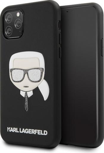 Husa Originala Karl Lagerfeld Klhcn65glbk iPhone 11 Pro Max Iconik Embossed Glitter- Negru Huse Telefoane