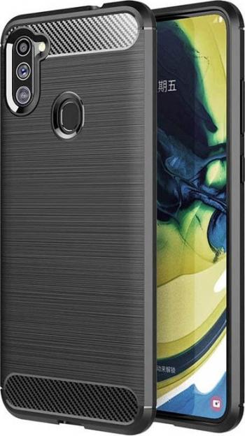 Husa Spate Upzz Carbon Pro Samsung Galaxy M11 Negru