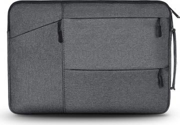Husa Upzz Tech Protect Pocket Compatibila Cu Laptop 13 Inch dark Gri Genti Laptop
