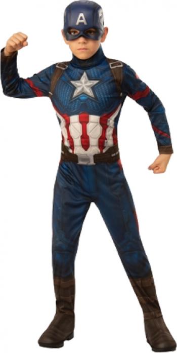 Costum Captain America Deluxe marimea S 3-4 ani masca cadou Costume serbare