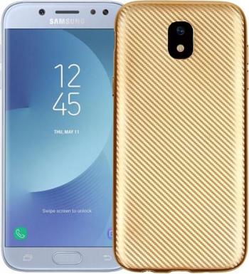 Husa Samsung Galaxy A7 2017 i-Zore Carbon Fiber Auriu Huse Telefoane