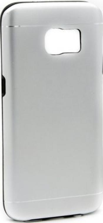 Husa Samsung Galaxy S6 Edge Plus Motomo V2 Argintiu