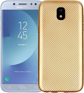 Husa Samsung Galaxy S8 i-Zore Carbon Fiber Auriu Huse Telefoane