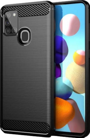 Husa Spate Upzz Carbon Pro Samsung Galaxy A21s Negru Huse Telefoane