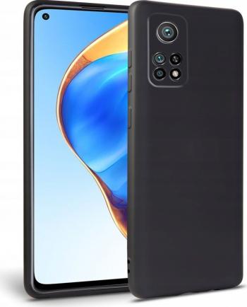 Husa Spate Upzz Tech Silicone Xiaomi Mi 10t / Mi 10t Pro cu Interior Alcantara Negru Huse Telefoane