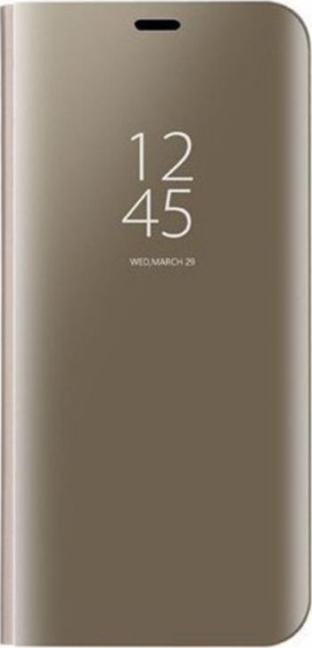 Husa Tip Carte S View Mirror Huawei P Smart 2019 Gold Huse Telefoane