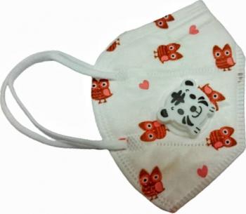Masca protectie pentru copii cu supapa de expirare ambalata individual Alb Masti chirurgicale si reutilizabile