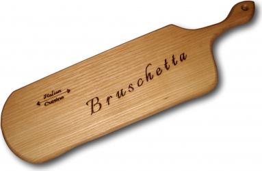 Platou gravat din lemn de frasin Bruschetta Accesorii bucatarie