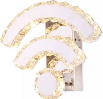 Aplica Moderna K9 Crystal Lumina Led WiFi Argintiu pentru sufragerie dinning dormitor W Corpuri de iluminat