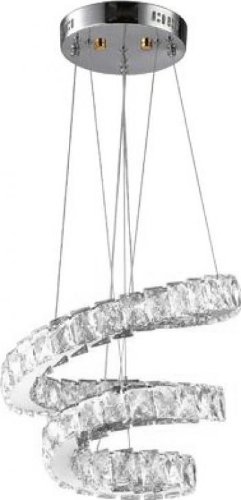 Candelabru Modern Loft Dormitor Sufragerie Iluminat K9 Crystals 81W LED-uri Spirala TotulPerfect
