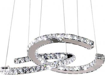 Candelabru Modern Loft Dormitor Sufragerie Iluminat K9 Crystals LED-uri CC TotulPerfect