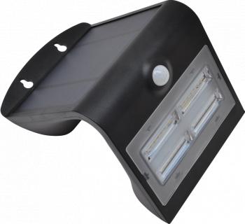 CIL de perete LED panou fotovoltaic detector miscare negru