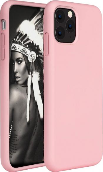 Husa telefon Apple Iphone 11 Pro MAX ofera protectie Lux Ultrasubtire Soft Silk Peach Huse Telefoane