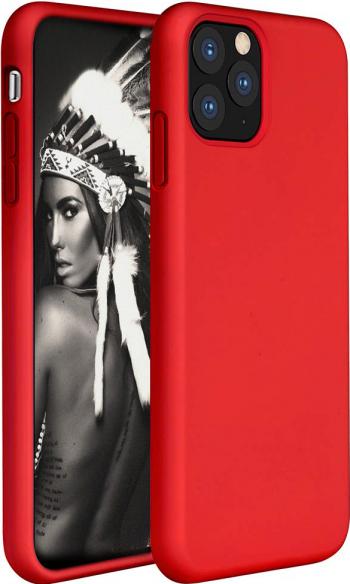 Husa telefon Apple Iphone 11 Pro MAX ofera protectie Lux Ultrasubtire Soft Silk Red Huse Telefoane