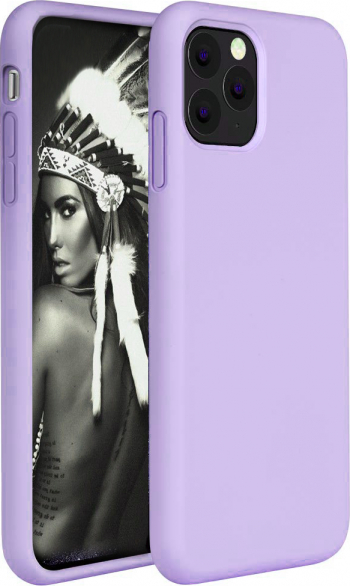 Husa telefon Apple Iphone 11 Pro MAX ofera protectie Lux Ultrasubtire Soft Silk Violet Huse Telefoane