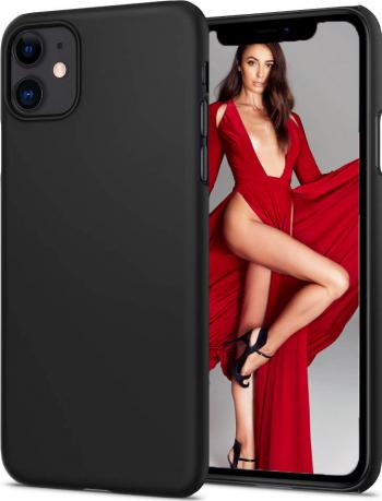 Husa telefon Apple Iphone 11 Pro MAX ofera protectie Lux Ultrasubtire Soft Touch Black Huse Telefoane
