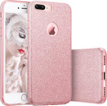 Husa telefon Apple Iphone 6 / 6S ofera protectie Glitter Shine UltraChic Pink