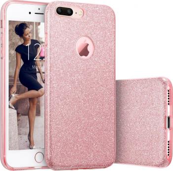 Husa telefon Apple Iphone 8 Plus ofera protectie Glitter Shine UltraChic Pink