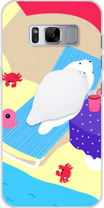 Husa telefon Samsung S8 ofera protectie Silicon Ultrasubtire Anti Stres - Bear