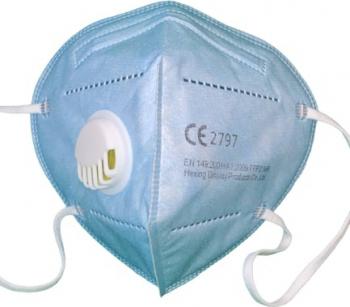 Masca de protectie adulti cu 5 straturi KN95 si supapa de expirare fara uz medical Bleu Masti chirurgicale si reutilizabile