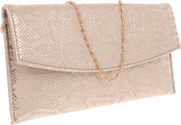 Plic de ocazie auriu roze din piele naturala MAGAZINUL DE GENTI
