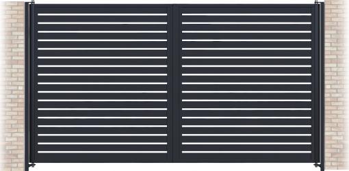 Poarta batanta profil orizontal zincata termic GP-O80 Panouri gard