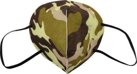 Set 5 Masti KN95 FFP2 protectie ridicata culoare ARMY certificate CE Masti chirurgicale si reutilizabile
