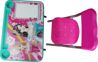 Set birou pliabil cu scaun copii design Princess