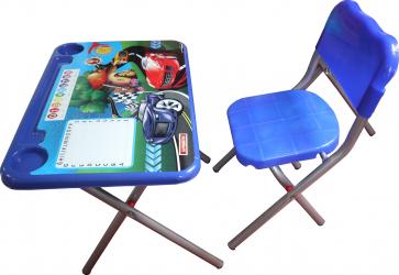 Set birou pliabil cu scaun copii desing Car