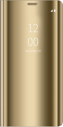 Husa Tip Carte Mirror Upzz Samsung Galaxy A20e Gold- Folie Sticla Inclusa Marca Upzz